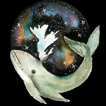 Galaxy Whale by shashira