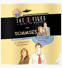 The X Files for dummies by Mimie Poster