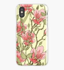 Magnolia plant. Modern design iPhone Case