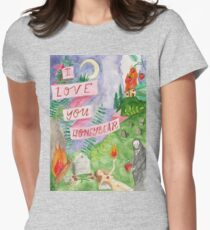 i love you honeybear Women's Fitted T-Shirt