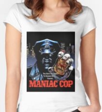 MANIAC COP  Women's Fitted Scoop T-Shirt