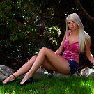 Pretty Girl In the Garden by Merilyn