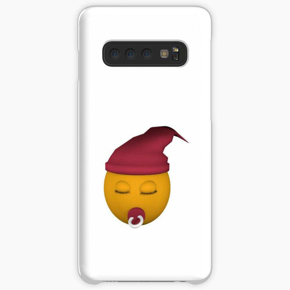 Emoticon mit Schnuller Hülle & Klebefolie für Samsung Galaxy