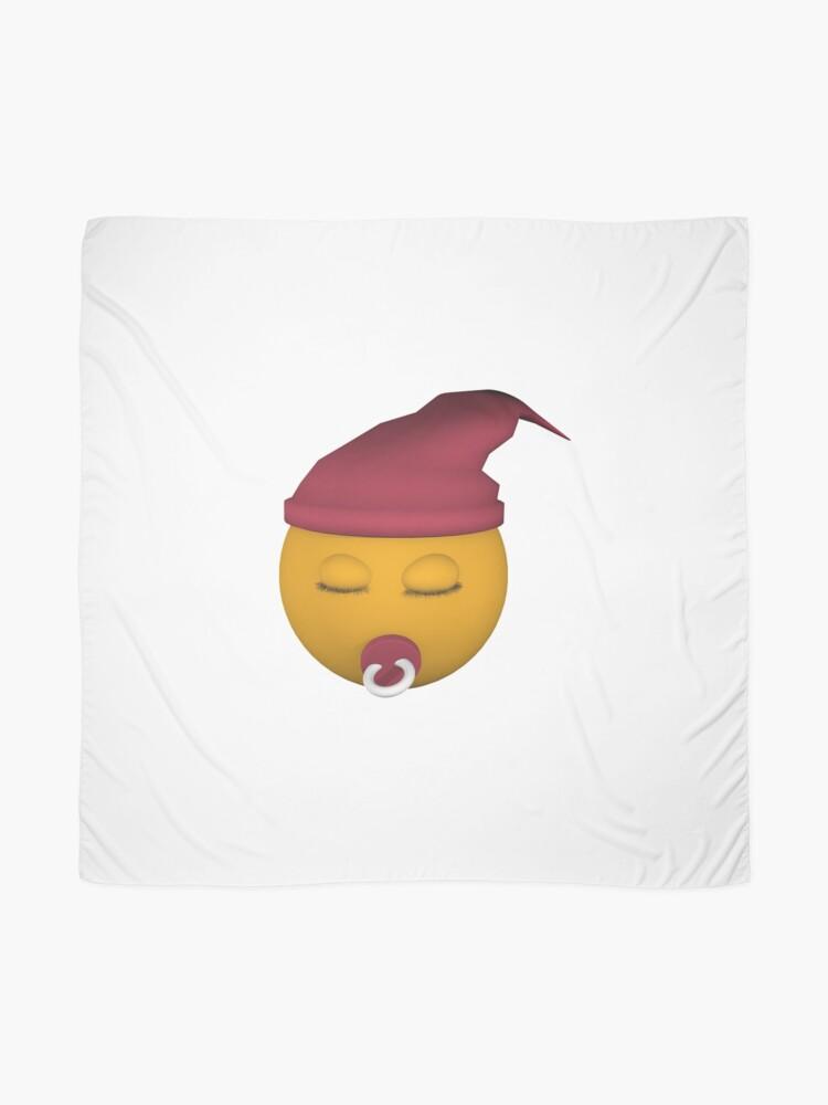 Alternative Ansicht von Emoticon mit Schnuller Tuch