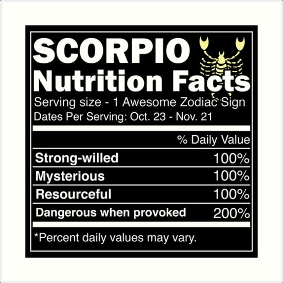 facts of scorpio