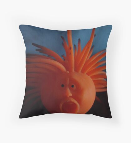 mood: blue red black Throw Pillow