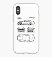 Ford Mustang GT Gen 6 Patent Black  iPhone Case