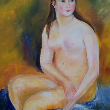 Seated Woman painting by schiabor