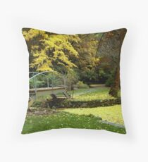 Alfred Nicholas Gardens-Autumn Throw Pillow
