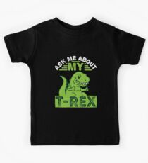 Ask Me About My T-Rex Dinosaur Kids Tee