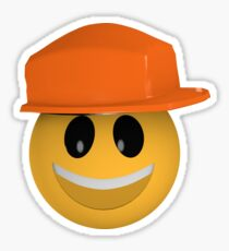 lustiges Bauarbeiter-Emoticon Sticker