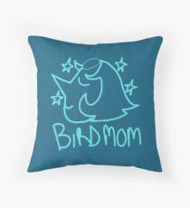 Bird Mom Throw Pillow