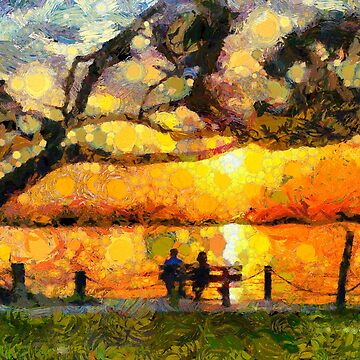 Watching the sunset with Van Gogh by Ariela-Alez