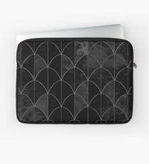 Mermaid scales. Black and white watercolor. Laptop Sleeve