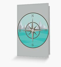 Compass Seascape #1 Greeting Card