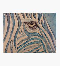 Zebra-Pop-Art - Blau Fotodruck