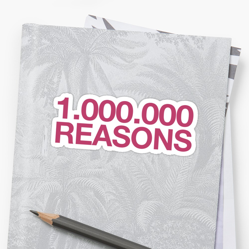 One Million Reasons ~ Hipster Quote Book by StrangeStreet