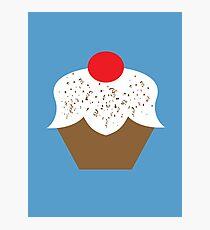 Chocolate Sprinkles Cupcake Photographic Print