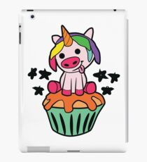 Ugly pigs unicorn on muffin iPad Case/Skin