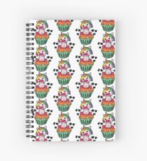 Ugly pigs unicorn on muffin Spiral Notebook