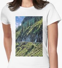 Weeping Wall 3 - Glacier National Park Women's Fitted T-Shirt