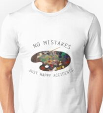 Bob Ross - No Mistakes Just Happy Accidents   Unisex T-Shirt