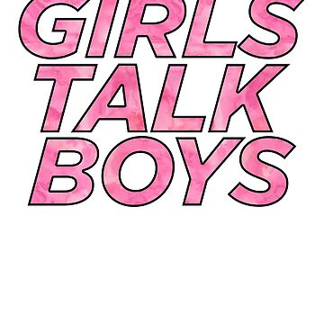 Girls Talk Boys Art Hipster Quote Book by ShieldApparel