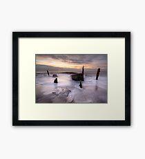 Tidal Erosion Framed Print