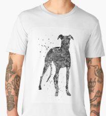 Whippet, Whippet art, watercolor Whippet Men's Premium T-Shirt