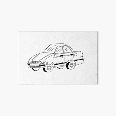 My Friends' Cars - Tercel Art Board Print