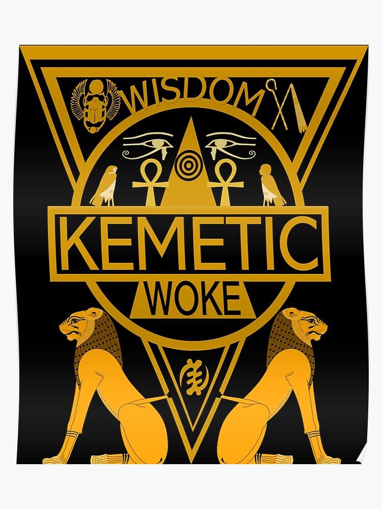 Kemetic Spirituality Ancient Egyptian Art T Shirt (2) | Poster