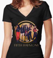 Camiseta entallada de cuello en V Quinta Armonía
