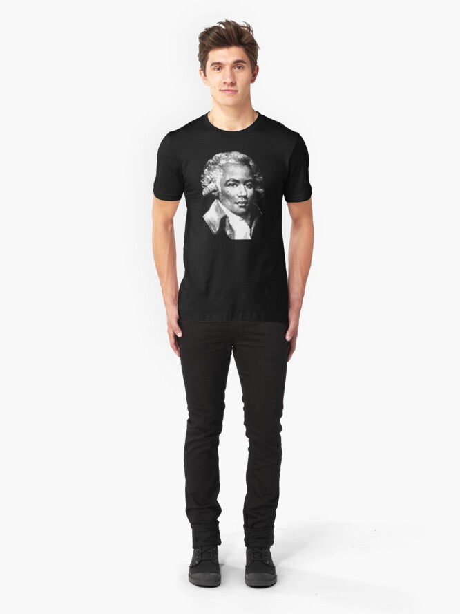 Alternate view of Chevalier de Saint-Georges - the First Black Composer Slim Fit T-Shirt