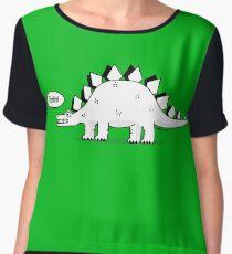 Cartoon Stegosaurus Chiffon Top