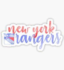 New York Rangers Watercolor  Sticker