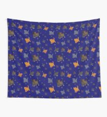Kittens on blue Wall Tapestry