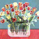 Tulip Tablescape by trash