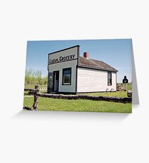 The Luzan Grocery, Ukrainian Cultural & Heritage Village, Alberta, Canada Greeting Card