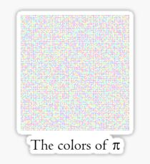 The colors of π Sticker