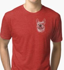 Easygoing Affectionate French Bulldog  Tri-blend T-Shirt