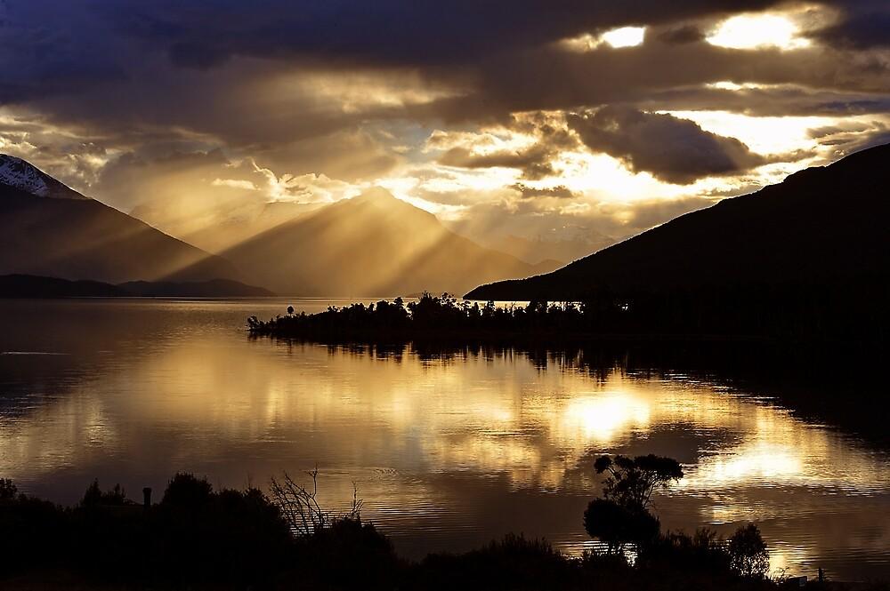 Lake Te Anau sunset. South Island, New Zealand. (5) by Ralph de Zilva