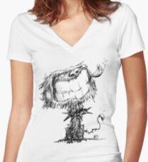 Scruffy Dog Women's Fitted V-Neck T-Shirt