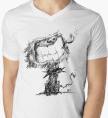 Scruffy Dog V-Neck T-Shirt