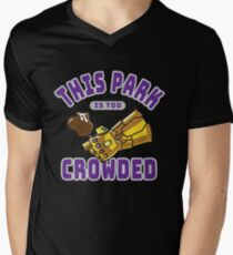 Too Crowded Men's V-Neck T-Shirt