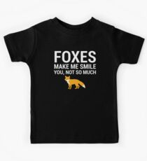 Foxes Make Me Smile Funny Fox Lover Gift T-Shirt Kids Tee