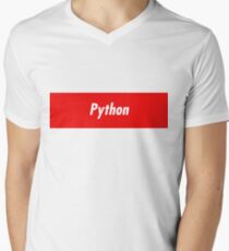 Python Developer - Programming stickers and other items! Men's V-Neck T-Shirt