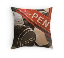 Pentax Strap Throw Pillow