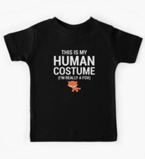 Funny Human Costume Really A Fox T-Shirt Kids Tee