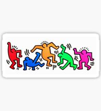 KEITH HARING DANCING FIGURES STICKER Sticker