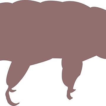 Tardigrade Water Bear Silhouette  by beerhamster